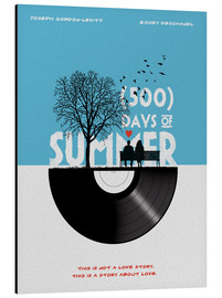 Alu-Dibond  500 days of summer movie inspired illustration - Golden Planet Prints