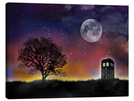 Tableau sur toile  Le TARDIS de Doctor Who la nuit - Golden Planet Prints