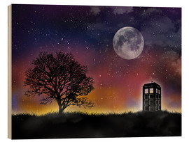 Bois  Doctor who tardis night sky tv serie inspired art print - Golden Planet Prints