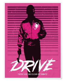 Golden Planet Prints - Drive ryan gosling movie inspired art print