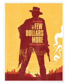 Poster  For a few dollars more western movie inspired art print - Golden Planet Prints