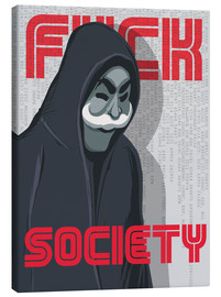Tableau sur toile  F*ck Society, Mr. Robot - Golden Planet Prints