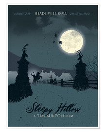Poster  Sleepy Hollow, la légende du cavalier sans tête (anglais) - Golden Planet Prints