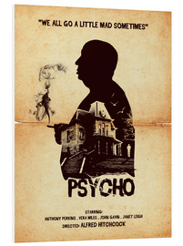 Tableau en PVC  Psycho (anglais) - Golden Planet Prints