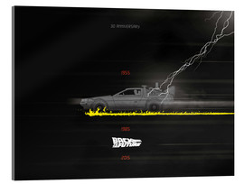 Tableau en verre acrylique  Back to the future, 30th anniversary - Golden Planet Prints