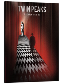 Alu-Dibond  Twin Peaks, Firewalk with me - Golden Planet Prints