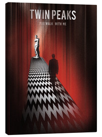 Tableau sur toile  Twin Peaks, Firewalk with me - Golden Planet Prints