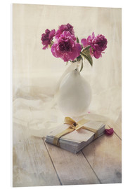 Tableau en PVC  Still life with pink peonies and love letters - Jaroslaw Blaminsky