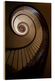 Bois  Wooden and steel spiral staircase - Jaroslaw Blaminsky