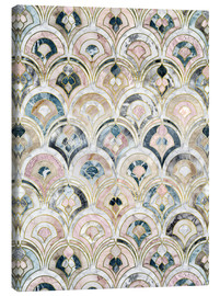 Toile  Art Deco Marble Tiles in Soft Pastels - Micklyn Le Feuvre