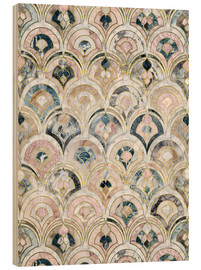 Bois  Art Deco Marble Tiles in Soft Pastels - Micklyn Le Feuvre