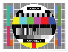 Poster  London TV channel 1 - Jaysanstudio