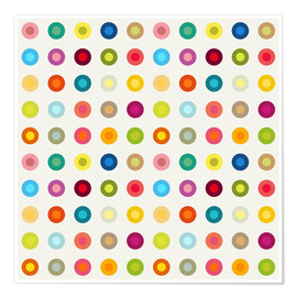 Poster vintage colourful circles