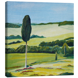Tableau sur toile  Lonely Cypress Tree on Terrapille Close to Pienza Tuscany - Christine Huwer
