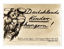 Poster Germany's Children are starving