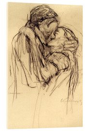 Verre acrylique  The kiss - Käthe Kollwitz