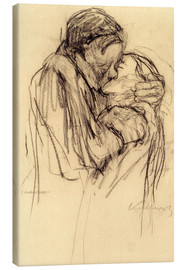 Toile  The kiss - Käthe Kollwitz