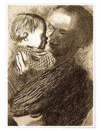 Poster  Mother with Child in her arms - Käthe Kollwitz