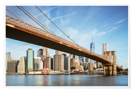 Matteo Colombo - Brooklyn bridge and Manhattan skyline at sunrise, New York city, USA