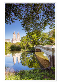 Poster  Famous bow bridge in Central Park, New York city, USA - Matteo Colombo