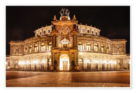 Poster  Saxon State Opera House in Dresden at night (Germany) - Christian Müringer