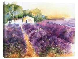 Toile  Lavender field in Provence - Eckard Funck