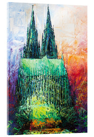 Verre acrylique  Cologne Cathedral Abstract - Renate Berghaus
