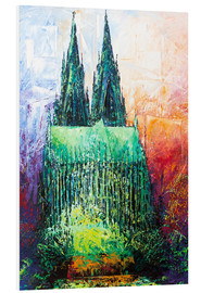 Tableau en PVC  Cologne Cathedral Abstract - Renate Berghaus