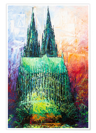 Poster  Cologne Cathedral Abstract - Renate Berghaus