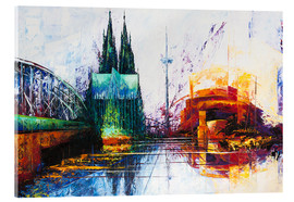 Verre acrylique  Cologne Cathedral Skyline - Renate Berghaus