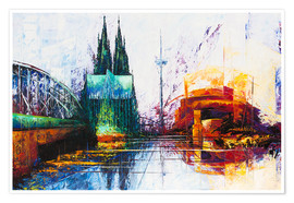 Poster  Cologne Cathedral Skyline - Renate Berghaus