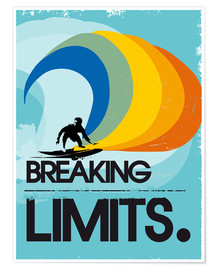 Poster  Surfer, Breaking limits - 2ToastDesign