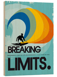 Bois  Retro Surfer Design breaking limits art print - 2ToastDesign