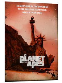 Tableau en PVC  Planet of the Apes retro style movie inspired - 2ToastDesign