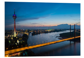 Tableau en PVC  Dusseldorf Skyline at night - rclassen