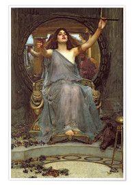 Poster  Circé offrant la coupe de poison à Ulysse - John William Waterhouse