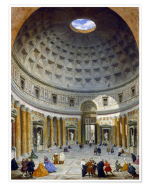 Poster Interior of the Pantheon