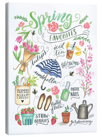 Toile  Spring Favourites - Lily & Val