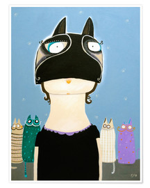 Poster Käthe Moschilak with catmask