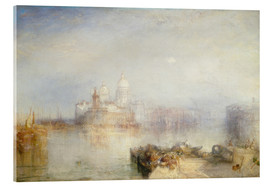 Verre acrylique  The Dogana and Santa Maria della Salute - Joseph Mallord William Turner