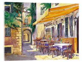 Verre acrylique  Cafe Provence - Paul Simmons