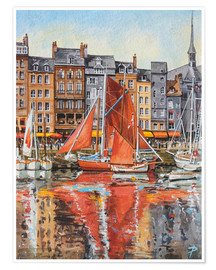 Poster  Voiles oranges - Paul Simmons