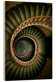 Tableau en bois  Spiral staircase in green and brown tones - Jaroslaw Blaminsky