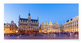 Poster  Grand Place in Brussels - Dieterich Fotografie