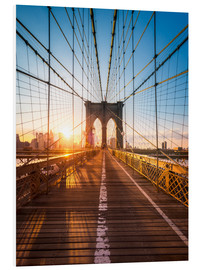 Forex  Pont de Brooklyn sous le soleil, New York City, USA - Jan Christopher Becke