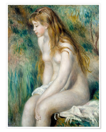 Poster Baigneuse assise