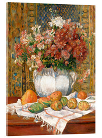 Verre acrylique  Still Life with Flowers and Prickly Pears - Pierre-Auguste Renoir