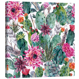Toile  Cacti, feathers and arrows