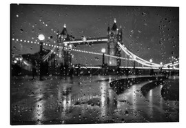 Tableau en aluminium  Tower Bridge Tears London - Alex Saberi