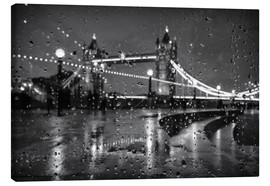 Tableau sur toile  Tower Bridge Tears London - Alex Saberi